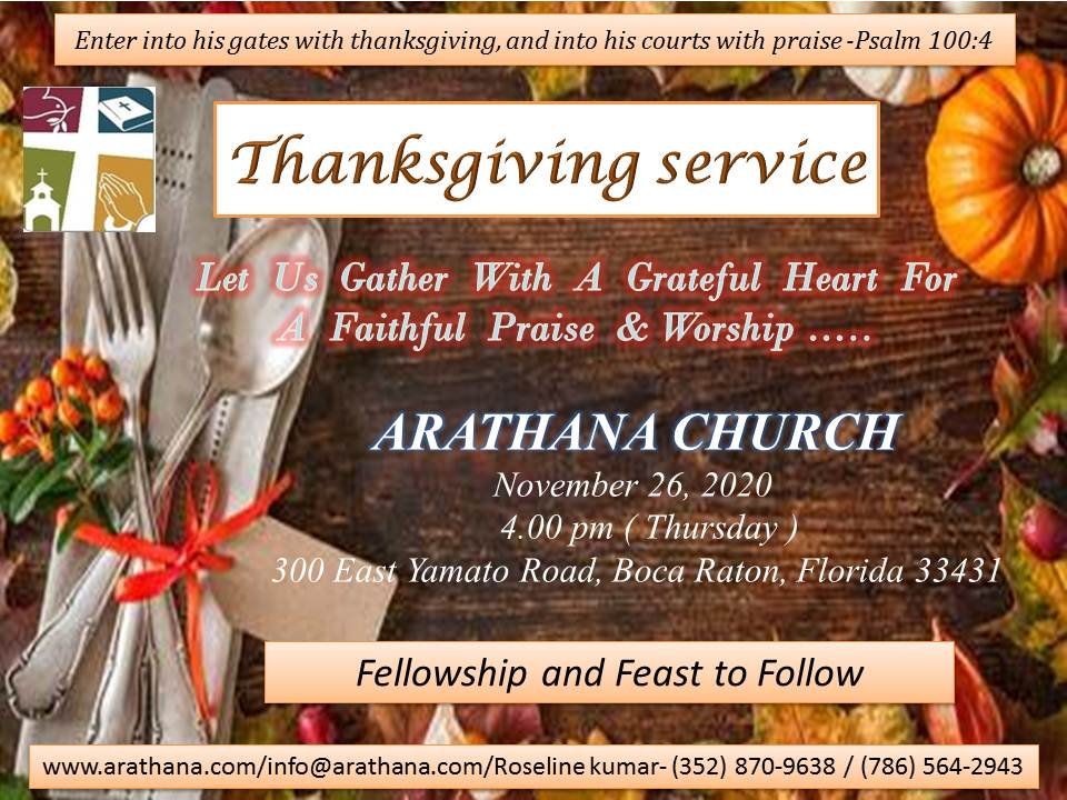Thanks Giving Service - 2020